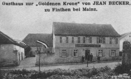 """Am 29. Januar 1905 treffen sich 30 Männer im Gasthaus """"Zur goldenen Krone"""" zur Gründungsversammlung des Radfahrervereins Finthen."""